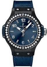 Часы Hublot Big Bang Ceramic Blue Diamonds 38mm 361.CM.7170.LR.1204