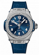 Часы Hublot Big Bang One Click Steel Blue Diamonds 2019  465.SX.7170.LR.1204